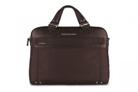 Leather Briefcase Piquadro CA3339LK_MarroneBrown