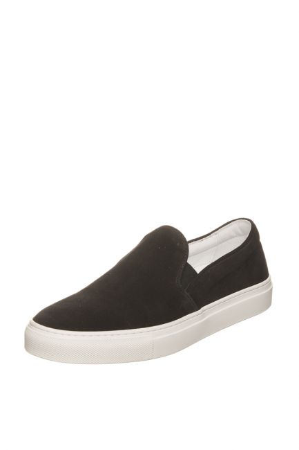 Woman Suede Moccasin Pantofola D'Oro FIS20WD_NeroBlack