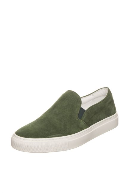 Woman Suede Moccasin Pantofola D'Oro FIS20WD_VerdeMilMl.Green