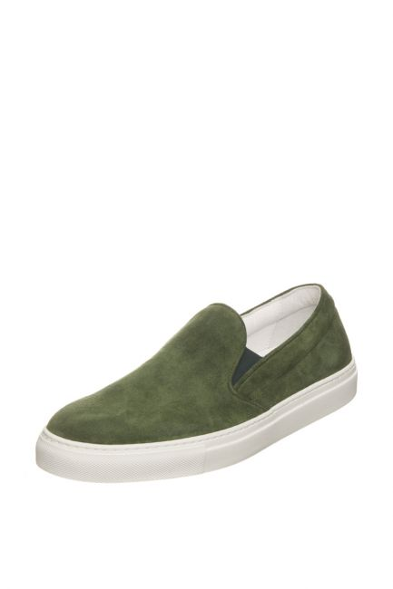 Men's Leather Moccasin Pantofola D'Oro FIS20WU_VerdeGreen