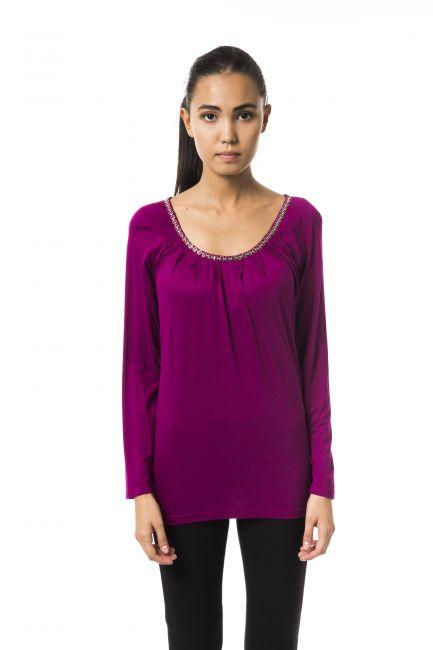 T-Shirt Byblos Donna Viola B2BGD74330572_331MAGENTABIS