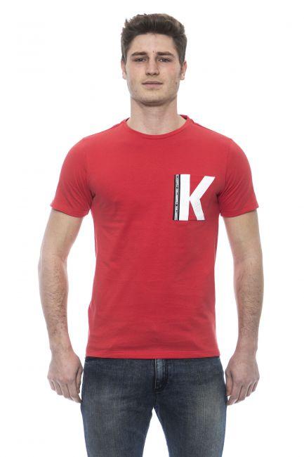 T-Shirt Karl Lagerfeld Beachwear Uomo Rosso KL19MTS01_RossoRed