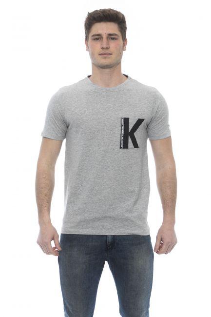 T-Shirt Karl Lagerfeld Beachwear Uomo Grigio KL19MTS01_Melange