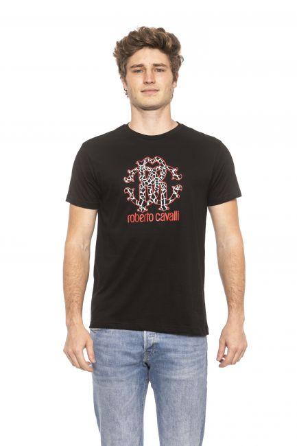 T-Shirt Roberto Cavalli Beachwear Uomo Nero HSH00T_05051Black