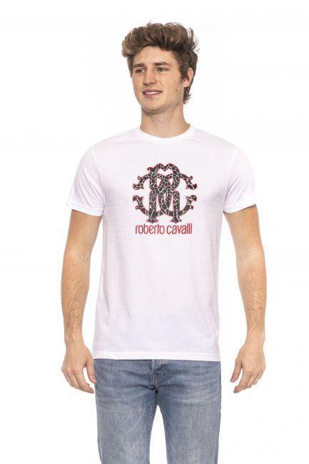 T-Shirt Roberto Cavalli Beachwear Uomo Bianco HSH00T_00053White