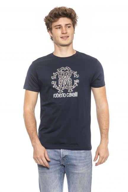 T-Shirt Roberto Cavalli Beachwear Uomo Blu HSH00T_04926Navy