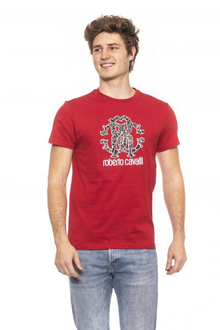 T-Shirt Roberto Cavalli Beachwear Uomo Rosso HSH00T_0200RED