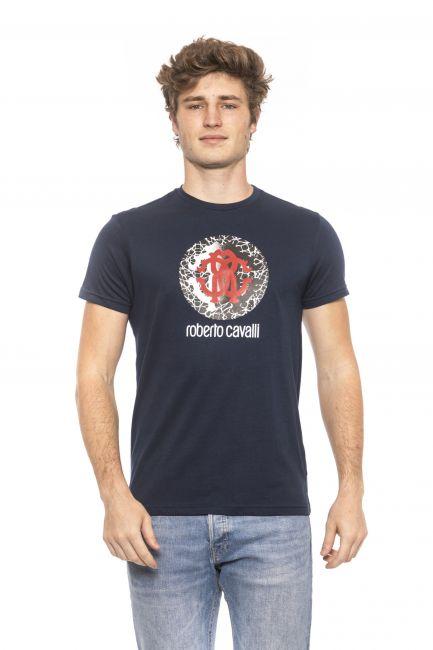 T-Shirt Roberto Cavalli Beachwear Uomo Blu HSH01T_04926Navy