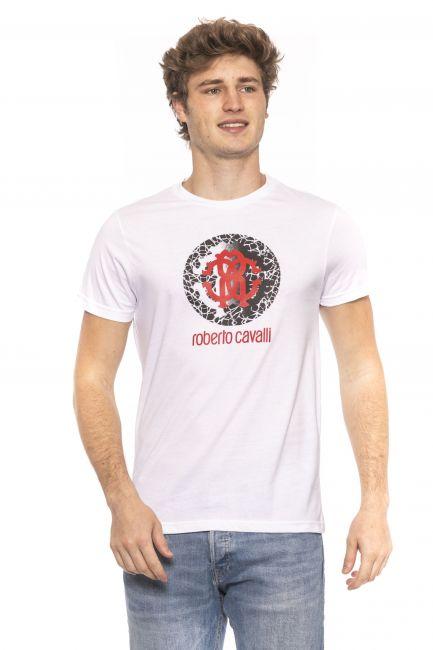 T-Shirt Roberto Cavalli Beachwear Uomo Bianco HSH01T_00053White