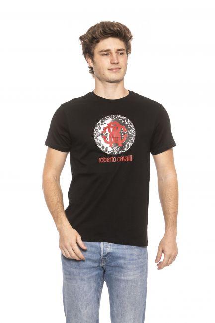 T-Shirt Roberto Cavalli Beachwear Uomo Nero HSH01T_05051Black