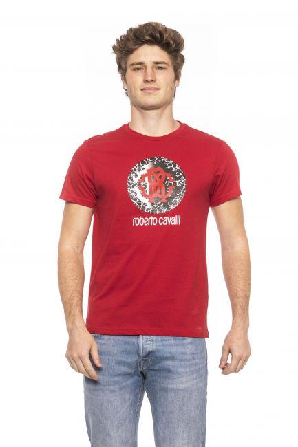 T-Shirt Roberto Cavalli Beachwear Uomo Rosso HSH01T_0200RED