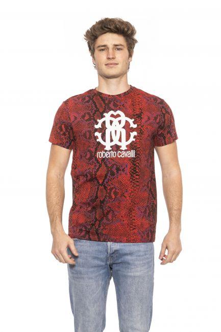 T-Shirt Roberto Cavalli Beachwear Uomo Rosso HSH02T_02000Red