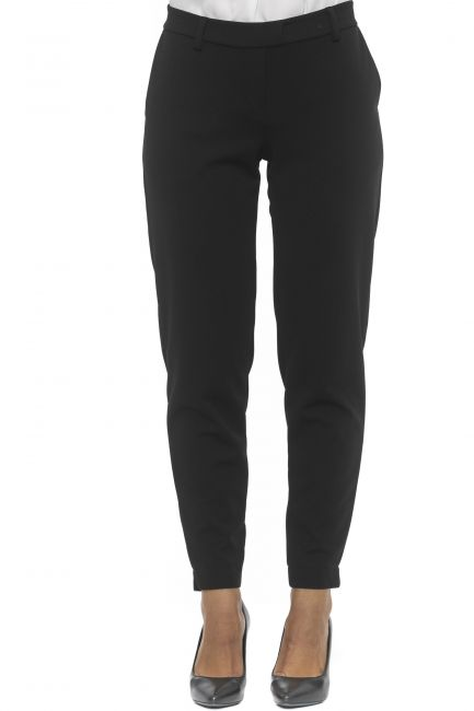 Pantalone Alpha Studio Donna Nero AD2584Q_8352NERO