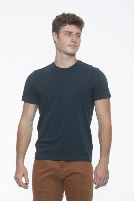 T-Shirt Alpha Studio Uomo Verde AU1800C_7407BOTTIGLIA