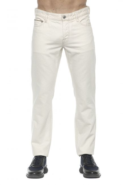 Jeans Care Label Uomo Bianco BODI214T8851_003DENIM