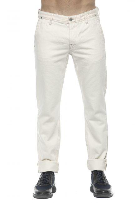 Jeans Care Label Uomo Bianco SLACK364T8851_003WHITE