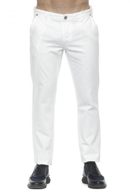 Jeans Care Label Uomo Bianco SLACK364T8851_001WHITE