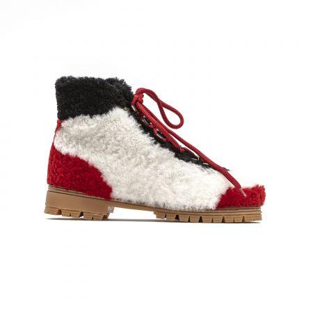 Woman Boot Mr&Mrs Italy PL011E_1318NaturalRedBlack