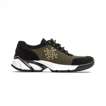 Woman Sneaker Mr&Mrs Italy SK063_9002BlackGold