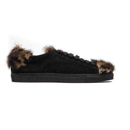 Women's Sneaker Mr&Mrs Italy SK016E_9045BlackNaturalAnimalier