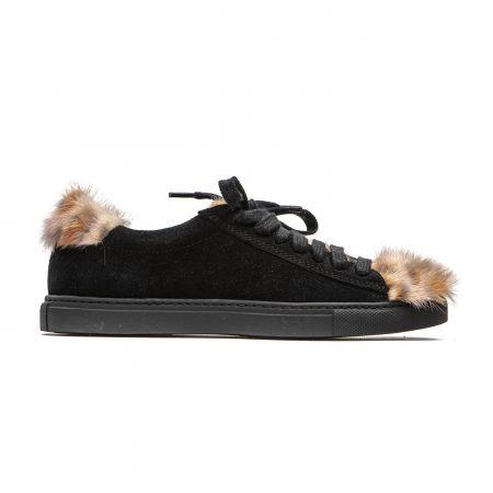 Women's Sneaker Mr&Mrs Italy SK016E_9042BlackAnimalierFeatherPink
