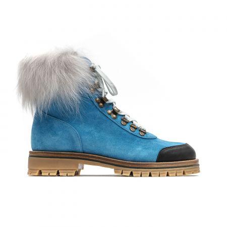Woman Ankle Boot Mr&Mrs Italy XPL0102_557400LightBluePowderWhite