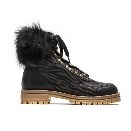 Woman Ankle Boot Mr&Mrs Italy XPL0104_821700GreyBlackBlack