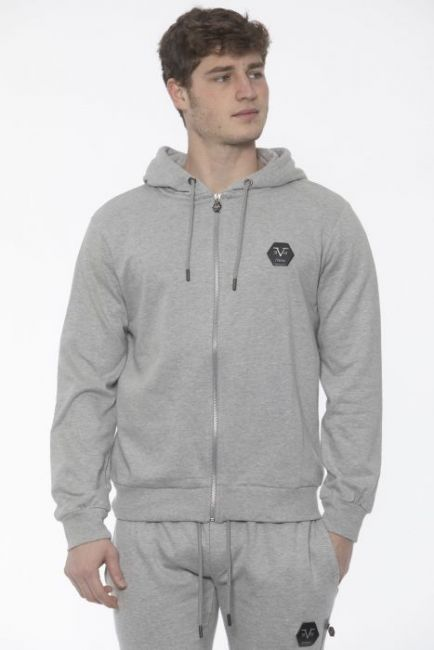 Men's Hooded Sweatshirt 19V69 Italia VI20AI0008_GrichLtGrey