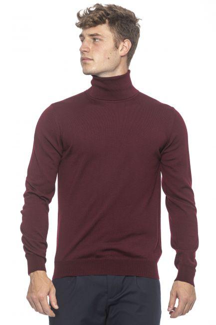Men's turtleneck sweater Alpha Studio AU1062G_7077BORDEAUX