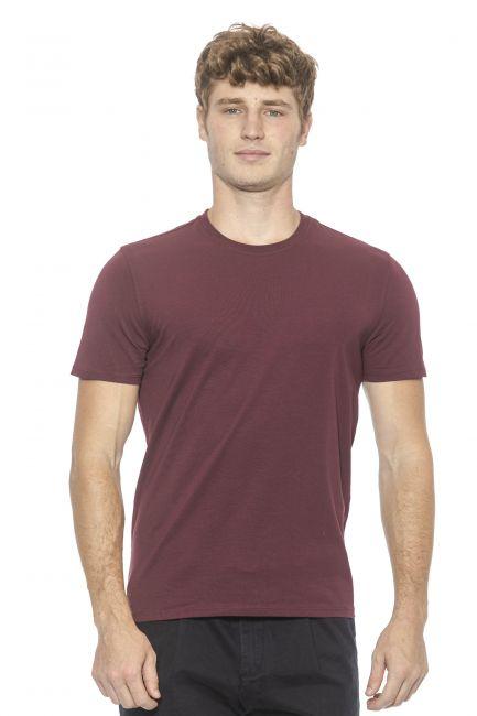 T-Shirt Alpha Studio Uomo Rosso AU1800C_7404BORDEAUX