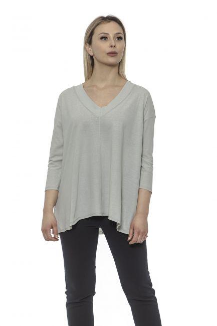 Women's V-neck Sweater Alpha Studio AD8573AE_9001PERLA