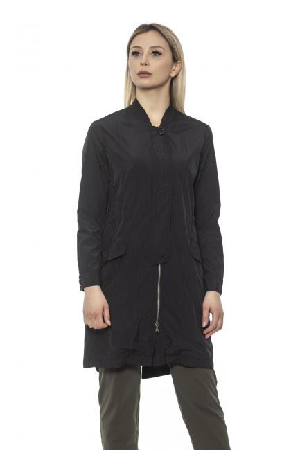 Long Women's Trench Coat Alpha Studio AD8371N_5181NERO