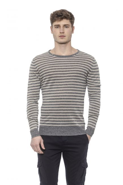 Men's Crew Neck Sweater Alpha Studio AU7160C_4150GR.SCUROMEL