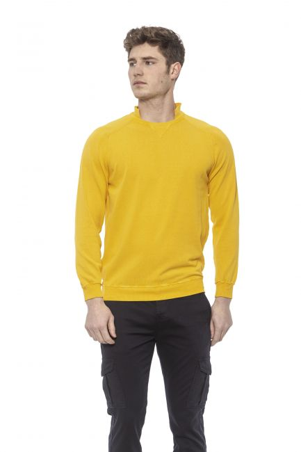 Men's Crew Neck Sweater Alpha Studio AU7010CS_4021GIALLO
