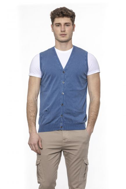 Gilet Alpha Studio Uomo Blu AU7003DS_4020ROYAL