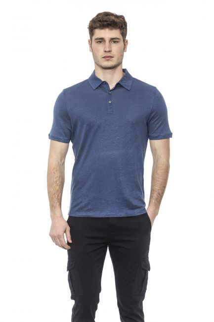 Polo Alpha Studio Uomo Blu AU2432B_8335CHAMBRAY