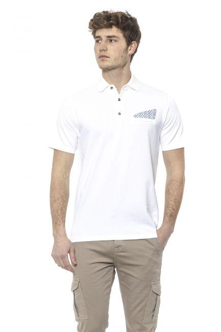 Polo shirt Alpha Studio AU7452BS_4344BIANCOOTTIC