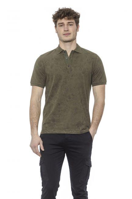 Polo shirt Alpha Studio AU7490BS_4363MILITARE