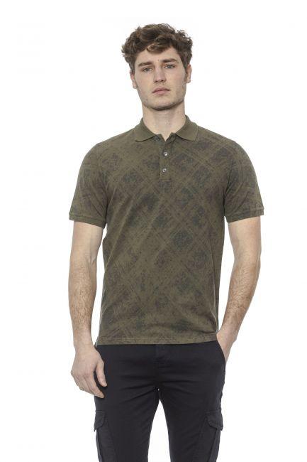 Polo shirt Alpha Studio AU7491BS_4363MILITARE