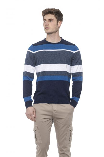 Man Sweater Conte of Florence 0485UKBUSCA_00130PRUSSIANBLUE