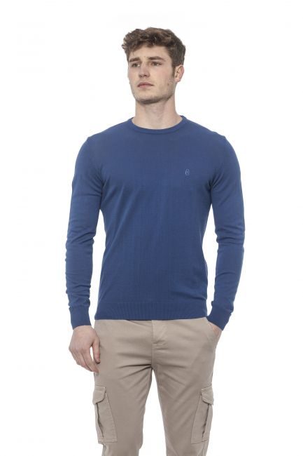 Man Sweater Conte of Florence 0485VKCOILI_00252AVIONBLUE