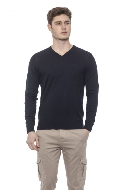 Man Sweater Conte of Florence 0485WACASTELLI_00130PRUSSIANBLUE