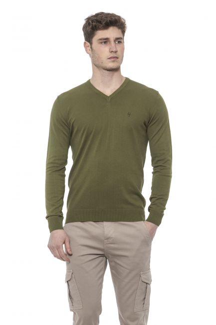 Man Sweater Conte of Florence 0485WACASTELLI_00230OLIVEGREEN