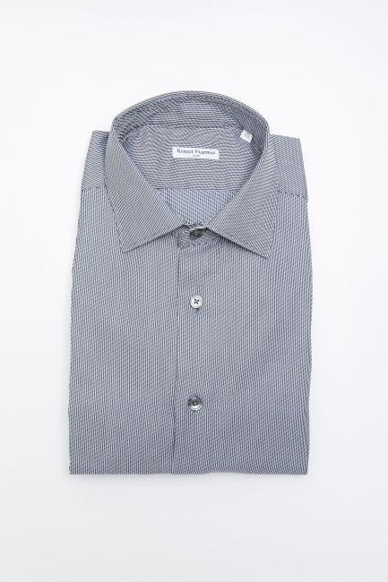 Camicia Robert Friedman Uomo Blu LEO1SL_57117_021BluBianco