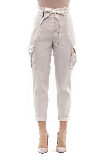 Pant Peserico P04958T30A02464_741Beige