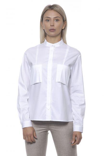 Camicia Peserico Donna Bianco S0650808924_800BIANCO