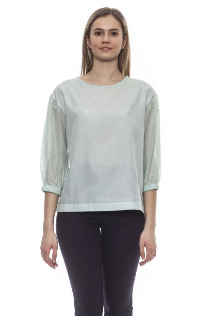 Shirt Peserico S06410V08372_732VerdeGreen