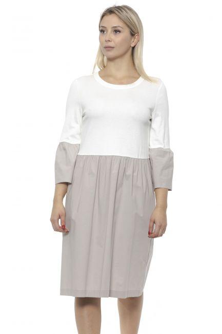 Dress Peserico M02469J0D5635_D42Beige