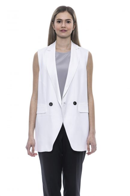 Gilet Peserico Donna Bianco S0367802746_703BiancoWhite