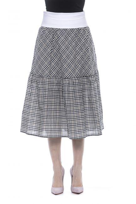 Skirt Peserico P05256A2792_A61BluNavy